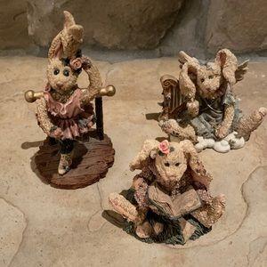 Boyd's Bears Rabbit 🐰 resin set of 3